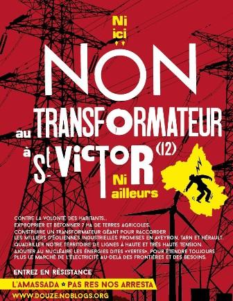 Grève du 5 décembre : Blocage du chantier du méga transformateur de RTE à Saint-Victor et Melvieu (Aveyron)