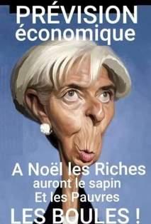 Pour Noël la présidente du FMI propose unpartage équitable