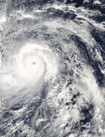 Haiyan, vu du satellite Aqua le 7/11/013 à 4h25 UTC (Nasa)
