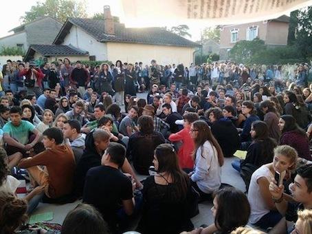 Blocage du Lycée Victor Hugo à Gaillac