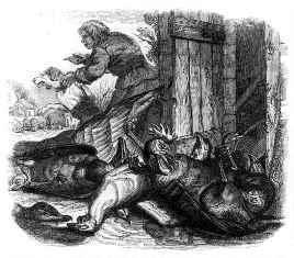 Le fermier le chien et le renard - illustration grandville
