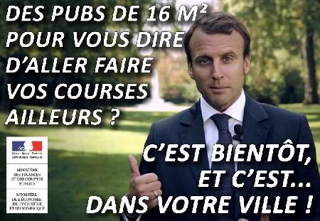 Dénonçons le scandaleux projet de décret affichage publicitaire de la loi Macron