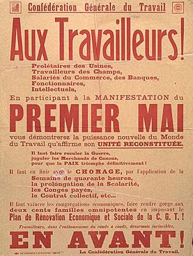 Appel à la manifestation du 1 mai 1936