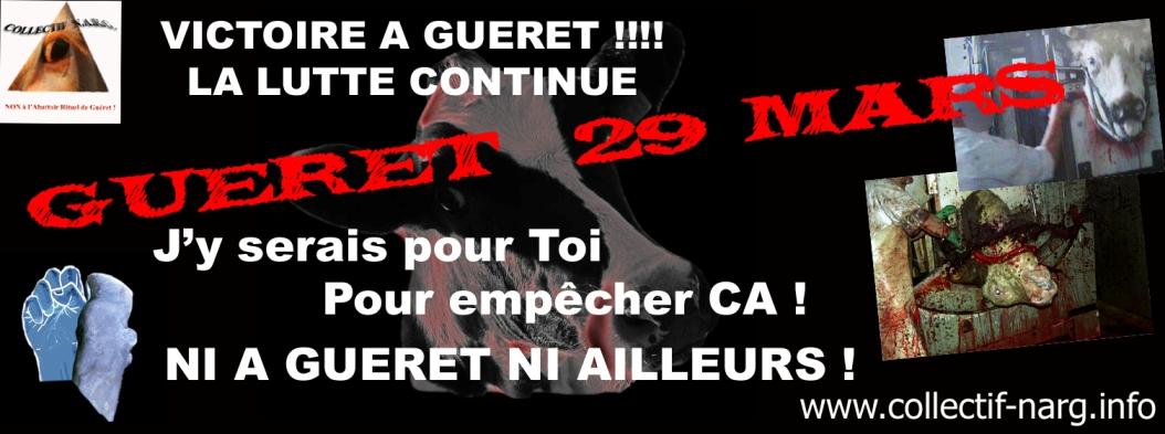 Il n'y aura pas d'abattoir industriel Hallal à Guéret (Creuse) !