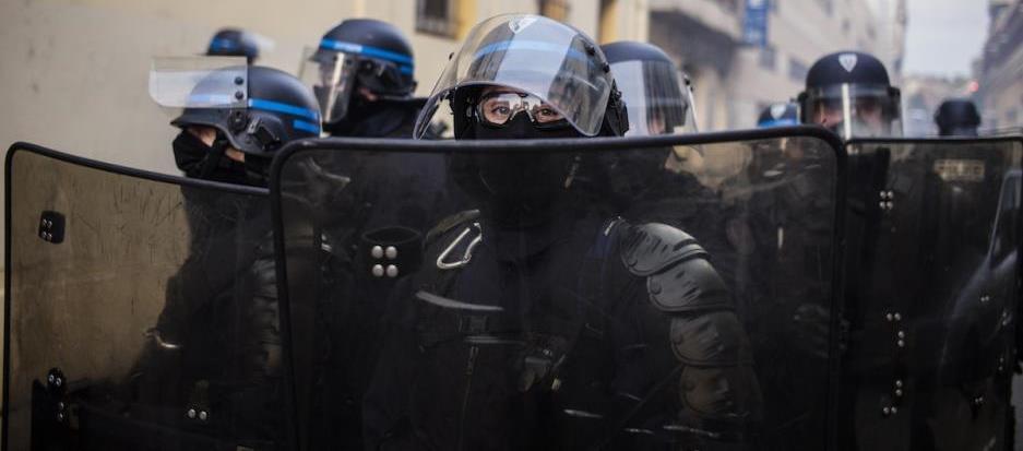 CRS à Toulouse, 8 /11/2014. Manifestation hommage à Rémi Fraisse